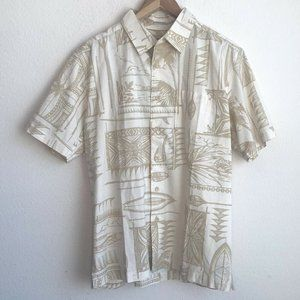 Quicksilver Waterman Button Front Shirt Size S